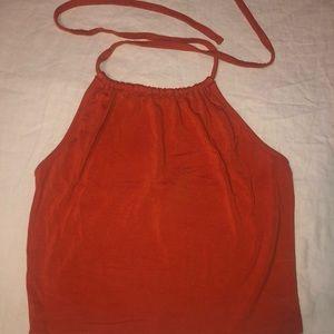 Forever 21 orange backless top